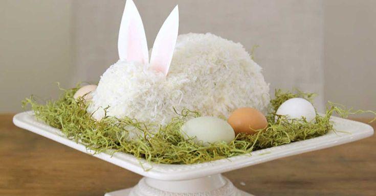 Too cute & simple Eater Bunny cake!