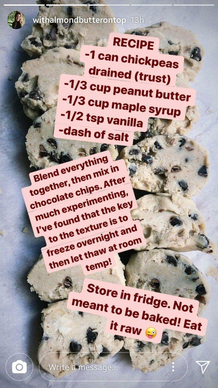 Vegan chickpea cookie dough!