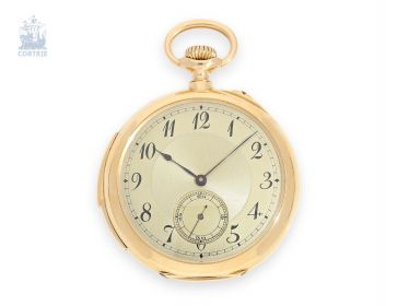 Pocket watch: exquisite man's pocket watch with minute repetition, Le Coultre & Cie./G. which makes La Chaux-de-Fonds, 1915, of former nobility, the possession of
