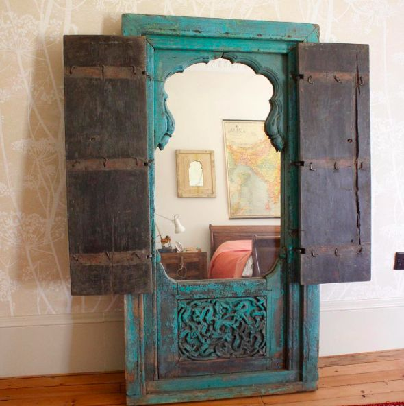 Vintage mirror, creating space. #homedecor #mirror #furniture