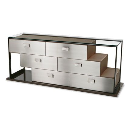 The shape is sexy, but I'm wary of mirrored/ reflective furniture