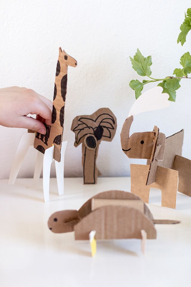 Simple Cardboard Animals