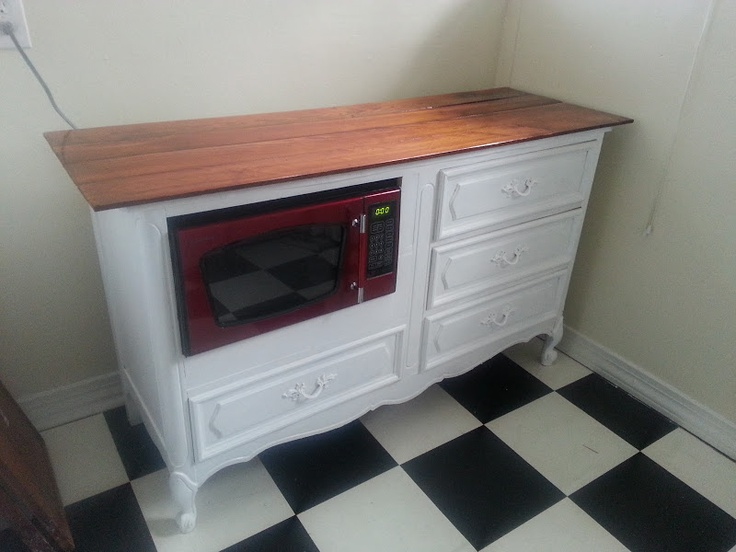 Repurposed Dresser To Make More Kitchen Counter Space