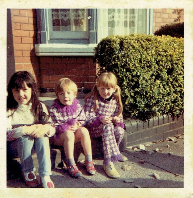 Suzy, Shelley and Caroline (cousins) in the UK before 1970