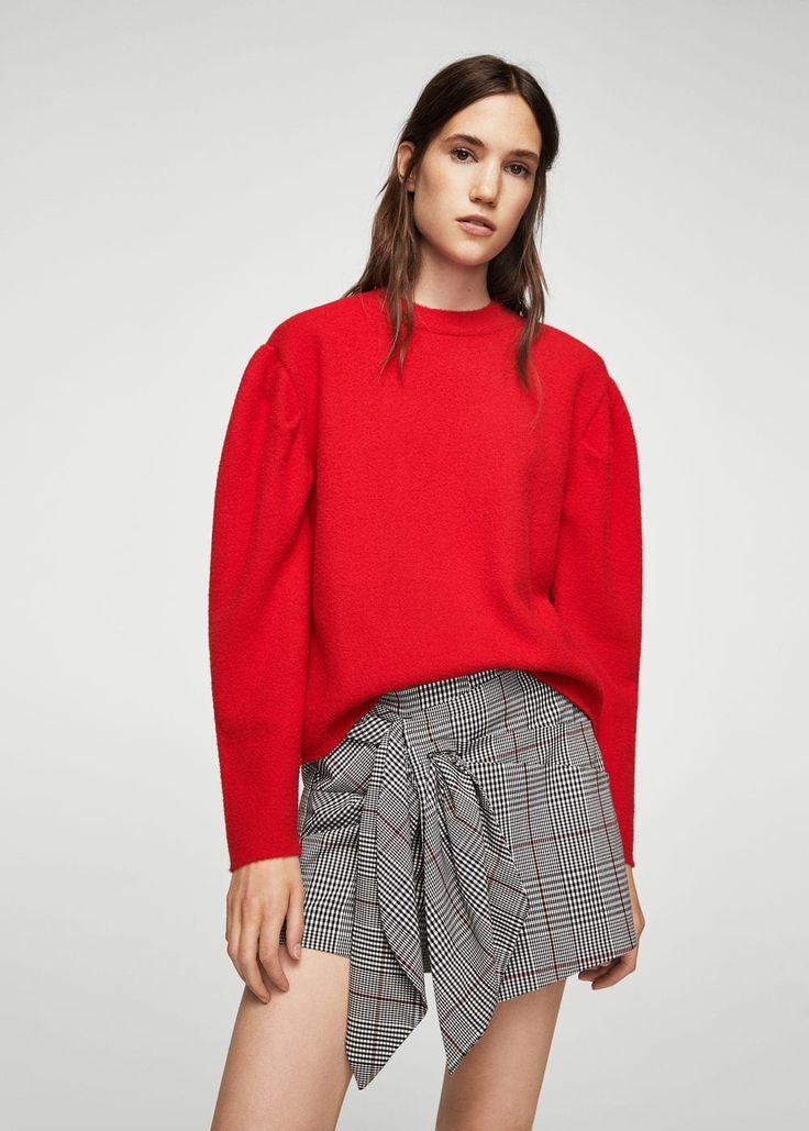 Check skirt pants | MANGO