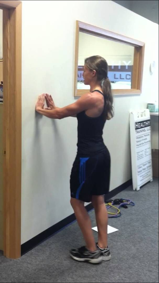 Tricep Wall Push-up Push up