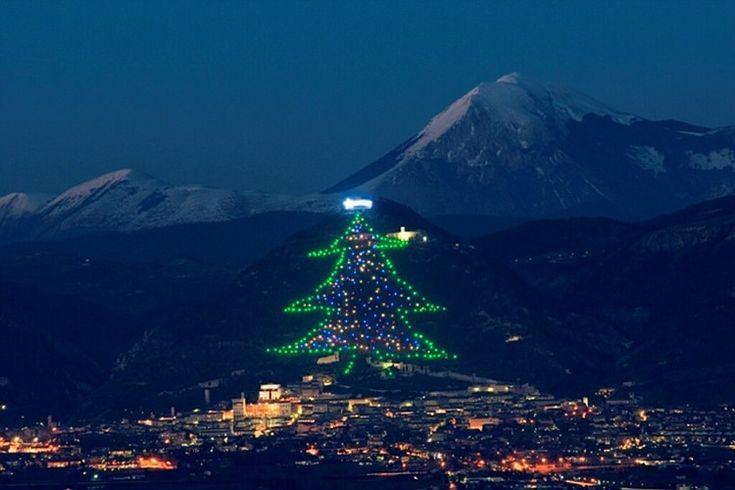 Gubbio - the world's largest Christmas tree