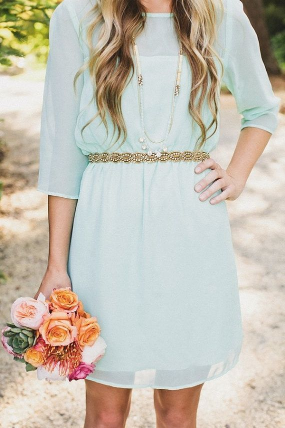 Hey, I found this really awesome Etsy listing at https://www.etsy.com/listing/169053135/mint-green-bridesmaid-dress-short