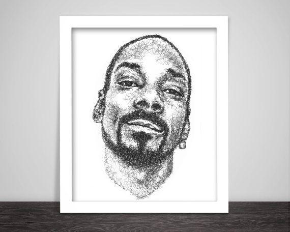 Scribbled Snoop Dogg von ScribbleZone auf Etsy