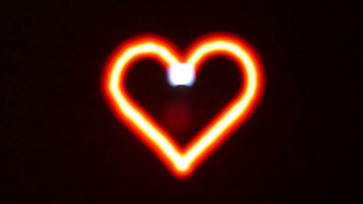 Srdce - light painting s pomocí ozobota