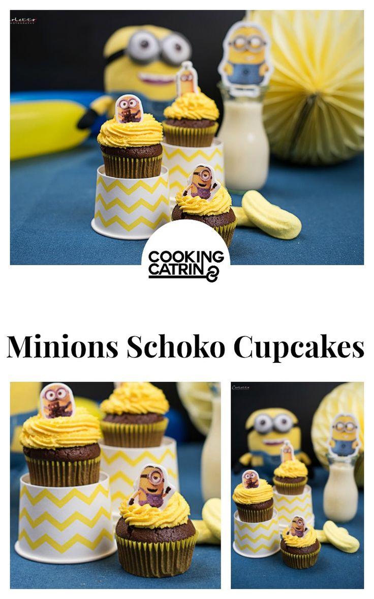 minions schoko cupcakes, schoko cupcakes, minions cupcakes, kidsparty, kinderparty, minionsparty, chocolate cupcakes, cupakes, schoko muffins, muffins, chocolate muffins, minions chocolate cupcakes, cupcakes recipe, cupcake rezept