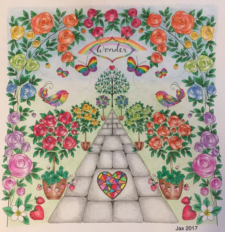 Joyous Blooms To Color By Eleri Fowler Colored Pencils Adult Coloring Page Completed Colorist Jax
