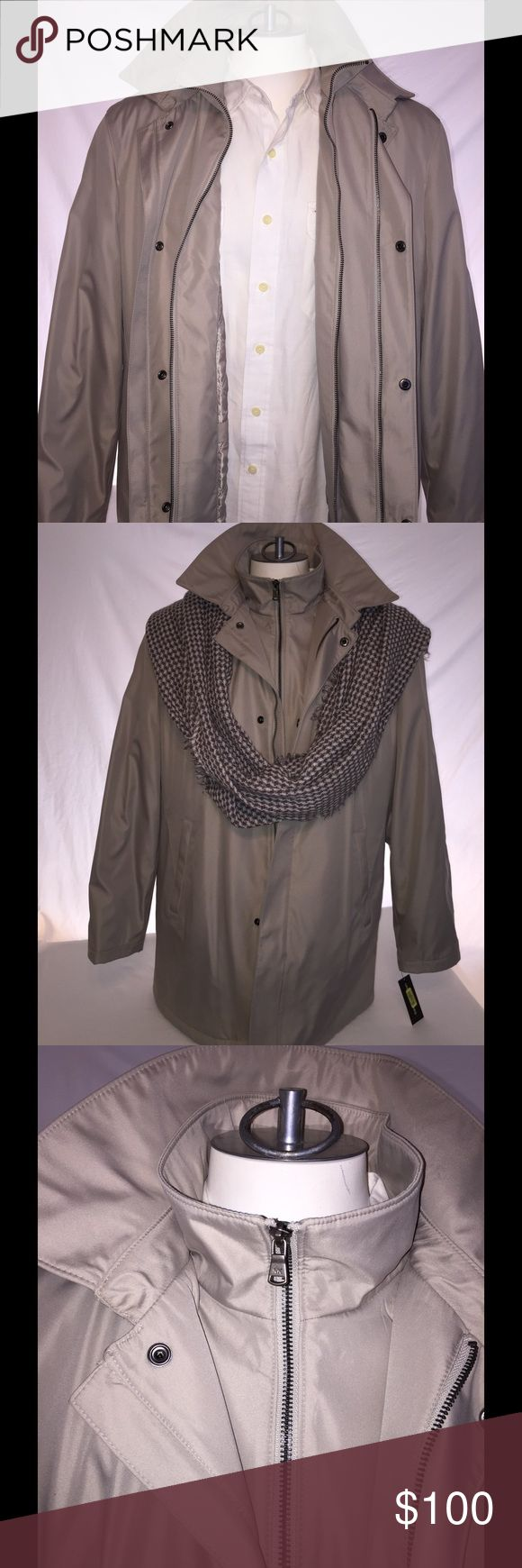 Michael Kors Men's Jacket Double lined & Zippered NWT. Great for wet weather - water repellant and has quilted lining. Michael Kors Jackets & Coats Trench Coats