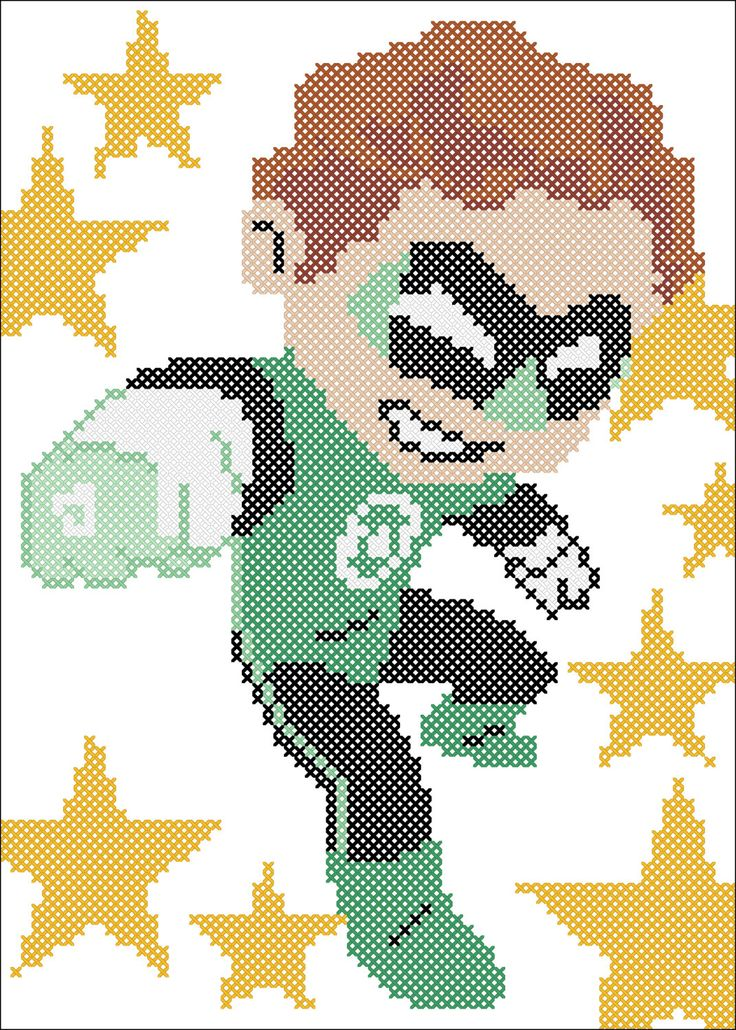 BOGO FREE! GREEN Lantern Marvel Comics Character Cross stitch pattern  -pdf cross stitch pattern  -  pdf pattern instant download #154 by Rainbowstitchcross on Etsy