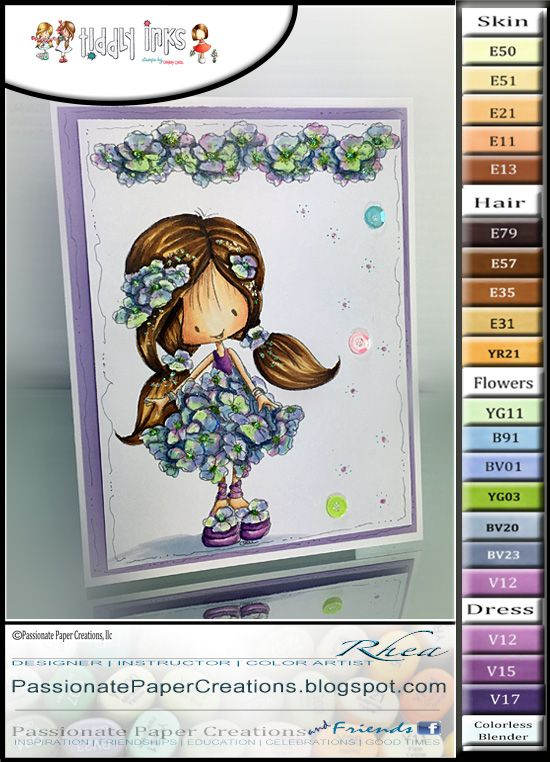 Passionate Paper Creations: Tiddly Inks - Flower Wryn