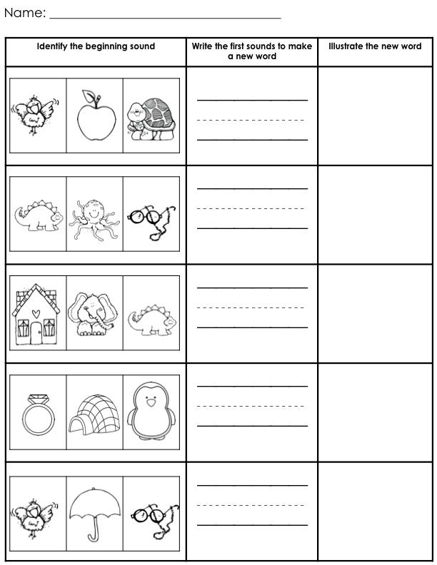 Printables Kindergarten Cvc Worksheets 1000 images about cvc words on pinterest activities for includes 6 beginning sound identification worksheets and 11 that can be used blending