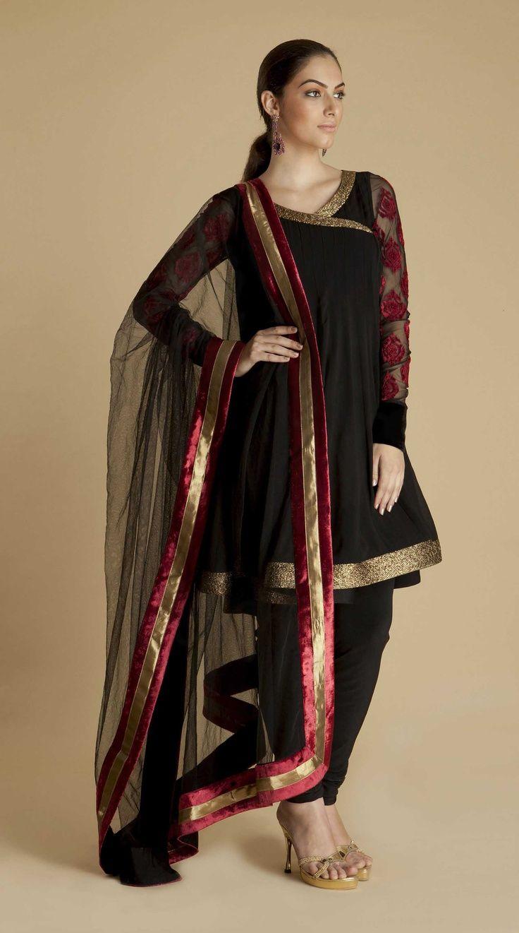 Trendy Angrakha Kurtis Dresses & Tunics Designs for Women (4)