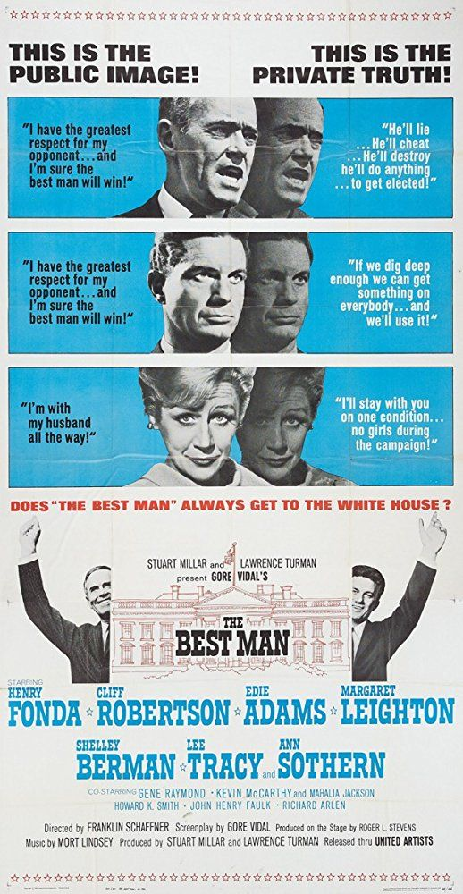 Henry Fonda, Margaret Leighton, and Cliff Robertson in The Best Man (1964)