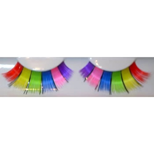Our SG11 Multicoloured Eyelashes are easy to apply, simply remove from tray with tweezers and apply a small amount of adhesive along the strip, wait about 20 seconds for the adhesive to go tacky and fit to your eyelid just above your natural lashes.: Fantasy Eyelashes, Color, Multicolour Eyelashes