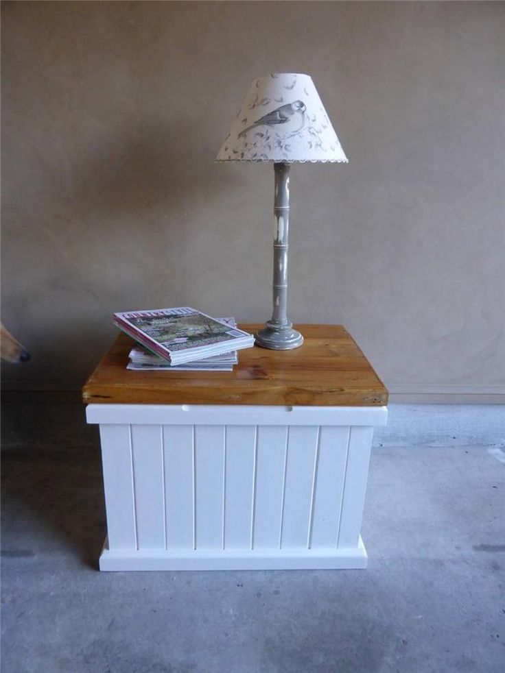 Rustic French Country Hamptons StyleToyBlanket Box Storage Coffee Table