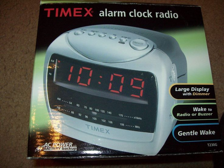 #Timex alarm clock radio ac #power w/battery backup large #display radio or buzze,  View more on the LINK: http://www.zeppy.io/product/gb/2/152231078825/