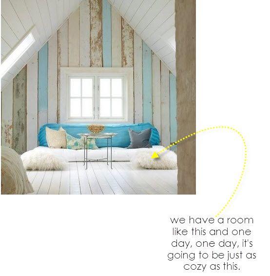 attic idea, #diy, reclaimed wood