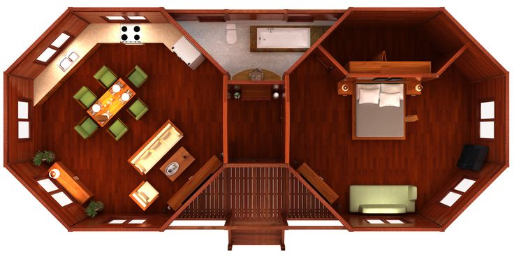 Octagonal Floor Plans: Our talented Design Team can realize your vision, we create innovative 'Bali Style' Post & Beam Homes. We are custom fabricators and can construct 100% according to your specifications and requirements.
