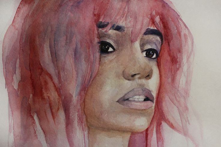 #watercolor #girl #portrait #art #teslimovka #print #pink #pinkhair #impression #unusual #color #mood #живопись #портрет #настроение #розовыеволосы #необычныестрижки #креативнаяпокраска #акварель #рисунок #рисунокакарелью #девушка #мода