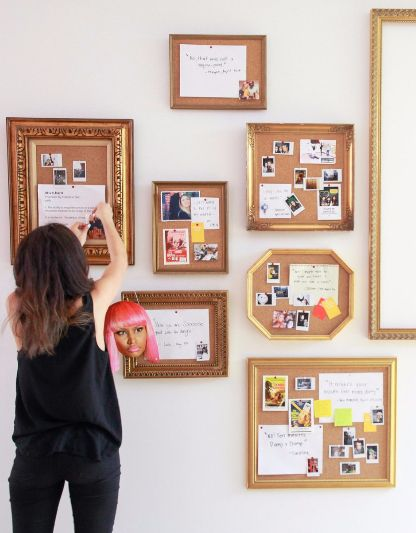 how to make your own elegantly framed cork board
