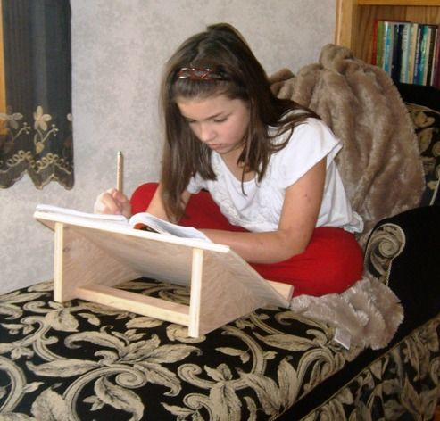 How to Build Book Stands - these are really good for children who have co-ordination or retained reflex problems