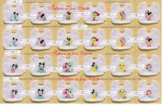 amorevitacrocette: schemi bavaglini Disney baby, Looney tunes e la si...