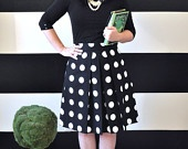 Green and White Chevron Striped Katie Skirt full gathered and pleated skirt very retro and vintage 50's and 60's inspired.