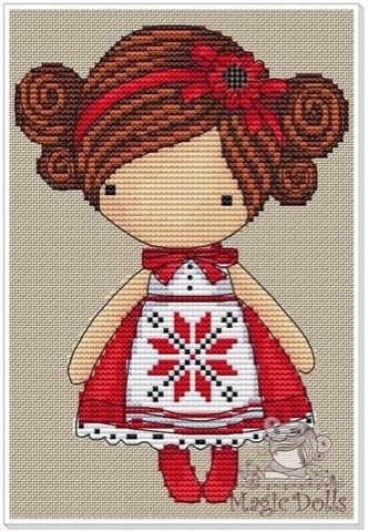 magicdolls: Вышивка Украиночка / Cross Stitch Ukraine Girl