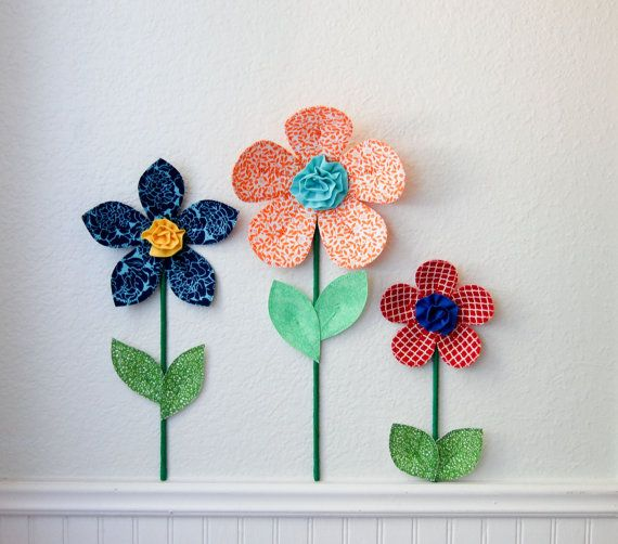 3d wall art decor is a great alternative to traditional wall decal. perfect for girls room, nursery, or baby shower gift. 3d wall flower is