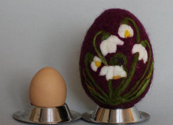 Easter egg felted easter eggs. Easter decoration. by WoolyThinker