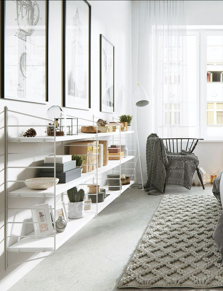Roohome.com - Thetypical of people who liked the soft and cute design may like thisNordic apartment interior design.It useswhite color scheme and applies soft shades that makethe atmosphere feel more relax. The use of indoor plant and the other unique decor make it looks so cute and charming. You do ...