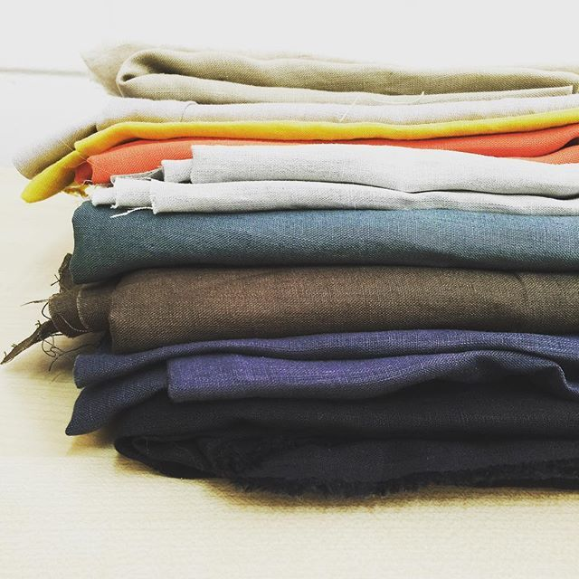 🌿linen stacks🌿 #pottertextiles #love #fabric #summer #textiles