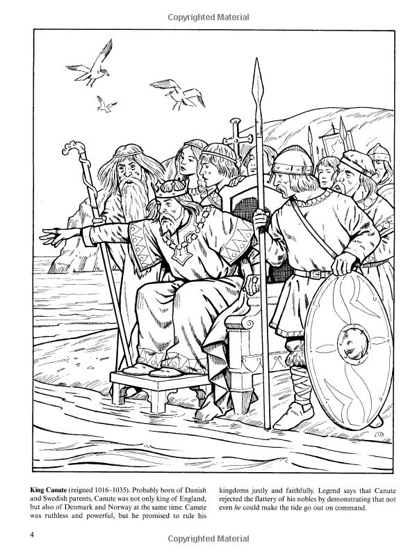 Kings And Queens Of England Coloring Book Dover History