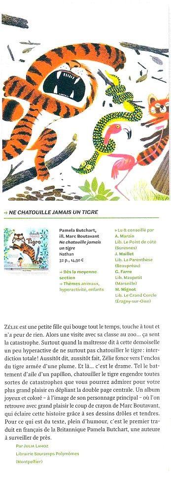 Ne chatouille jamais un tigre ! de Pamela Butchart et Marc Boutavant. Page n°171