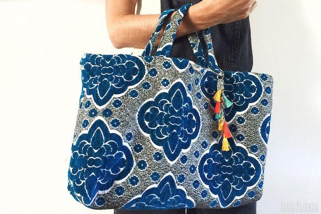 El bolso de tela ideal para novatas con la máquina de coser