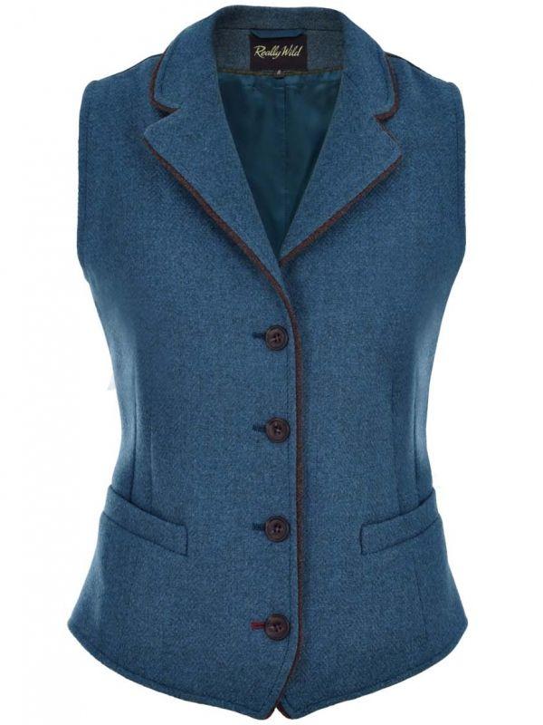 Really Wild Clothing Kingfisher Tweed Waistcoat