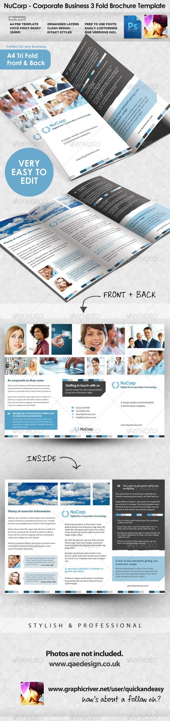 Fasttrackr 3 Fold Brochure Brochures Brochure Template And Tri Fold