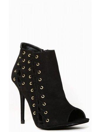 Glam Stitches Peep Toe #Heels