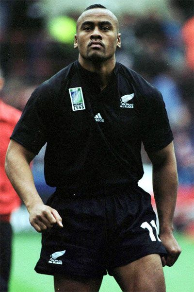 Jonah Lomu (born: May 12, 1975, Auckland, New Zealand - November 18, 2015, Auckland, New Zealand) was a New Zealand rugby player.He was the youngest ever All Black when he played his first international in 1994 at the age of 19 years and 45 days. Lomu finished with 63 caps and scored 37 international tries. He was possibly the best player ever in rugby history. He was certainly the greatest winger ever. He was a New Zealand All Black from 1994 to 2002.