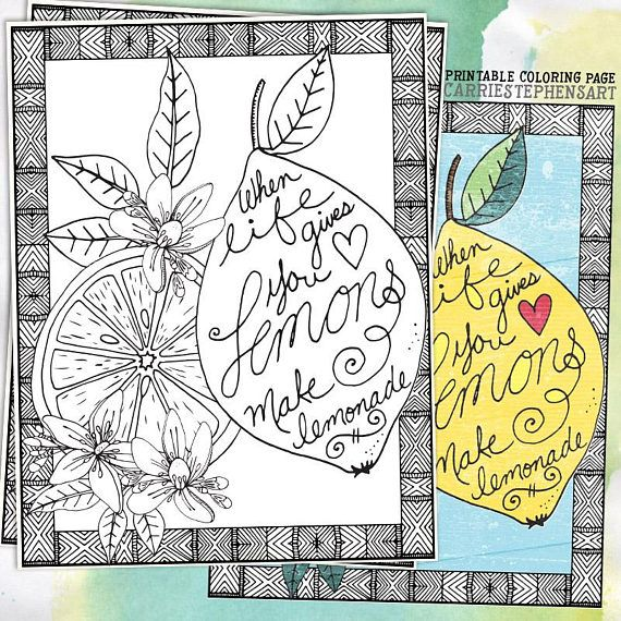 Coloring Page Lemons To Lemonade Inspirational Colouring Sheet