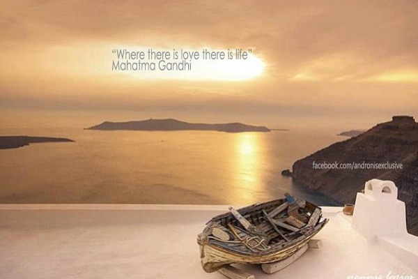 """""""Where there is love there is life"""" - Mahatma Gandhi"""