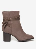 Womens Wide Fit Grey 'Milla' Ankle Boots- Grey