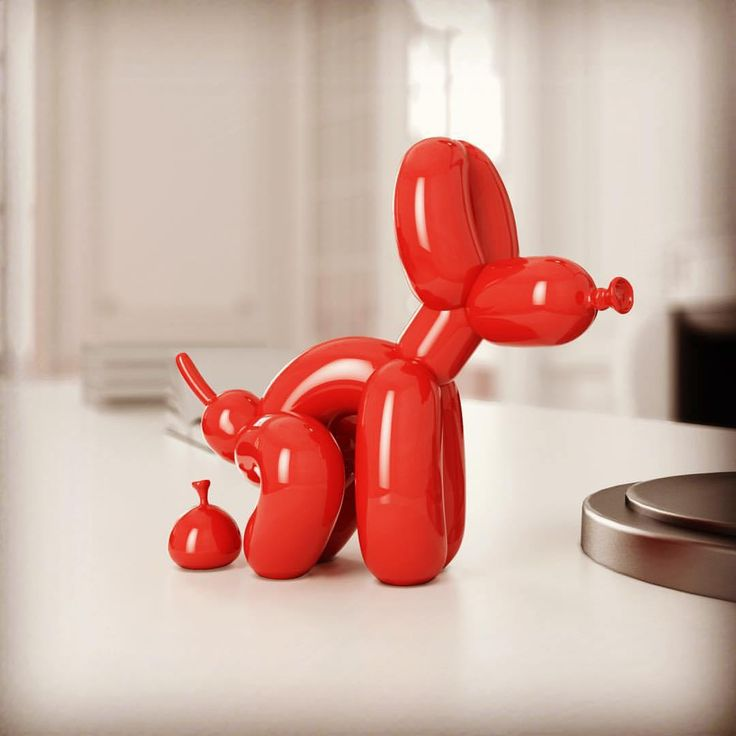 If you liked the pooping dog lamps, Good Puppy and Good Boy, by UK Artist Whatshisname, you'll love his latest - a Pooping Balloon Dog in three sizes.