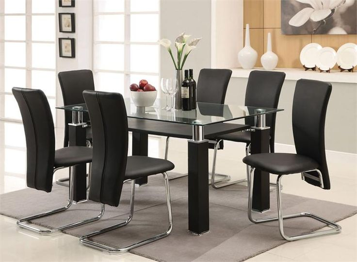 Formal Dining Room Sets For 6 glass dining room set