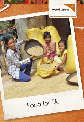 Being able to grow and harvest their own rice makes a life-long difference for this young family.